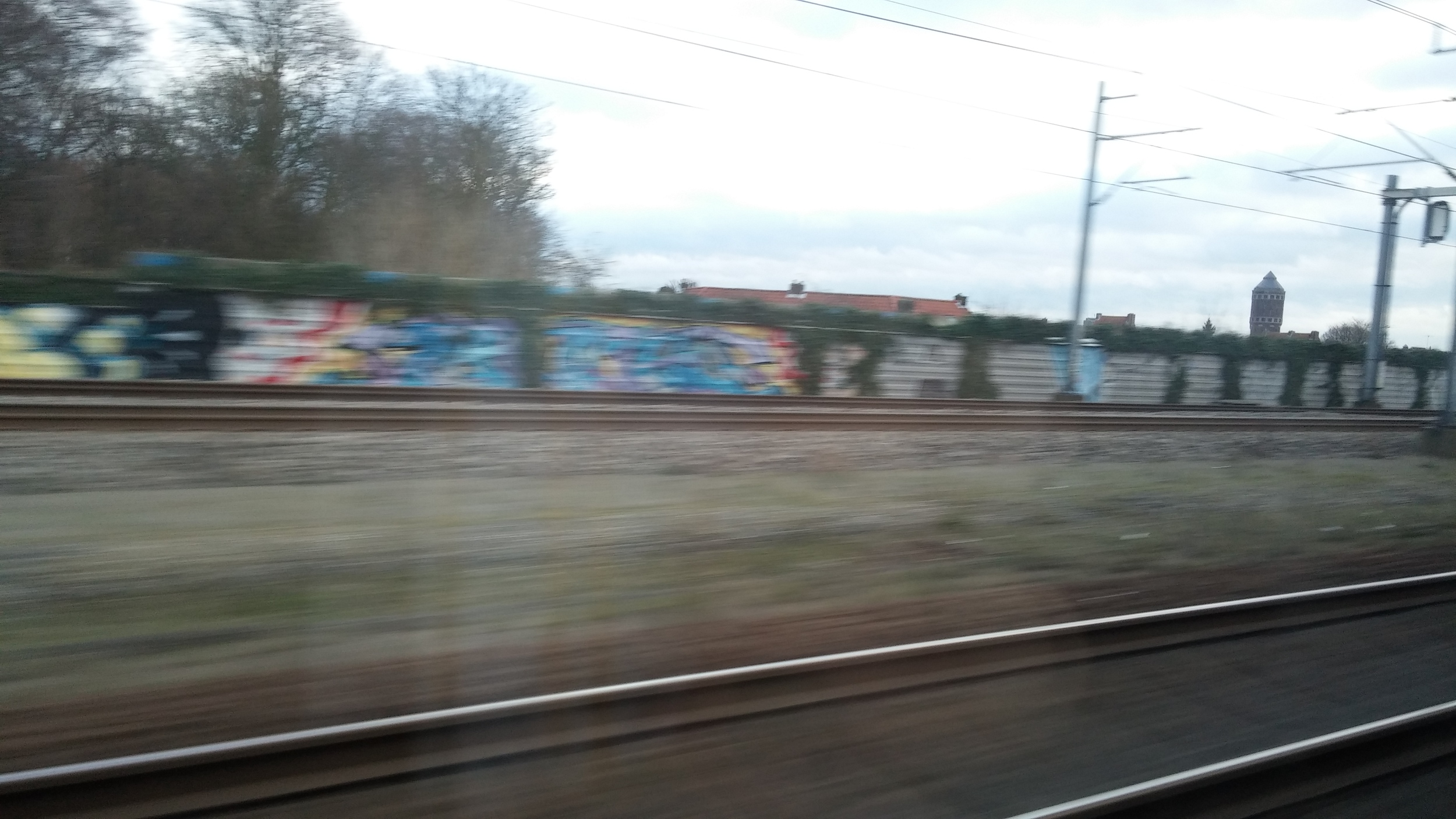 View from the train from Amsterdam to Nijmegen
