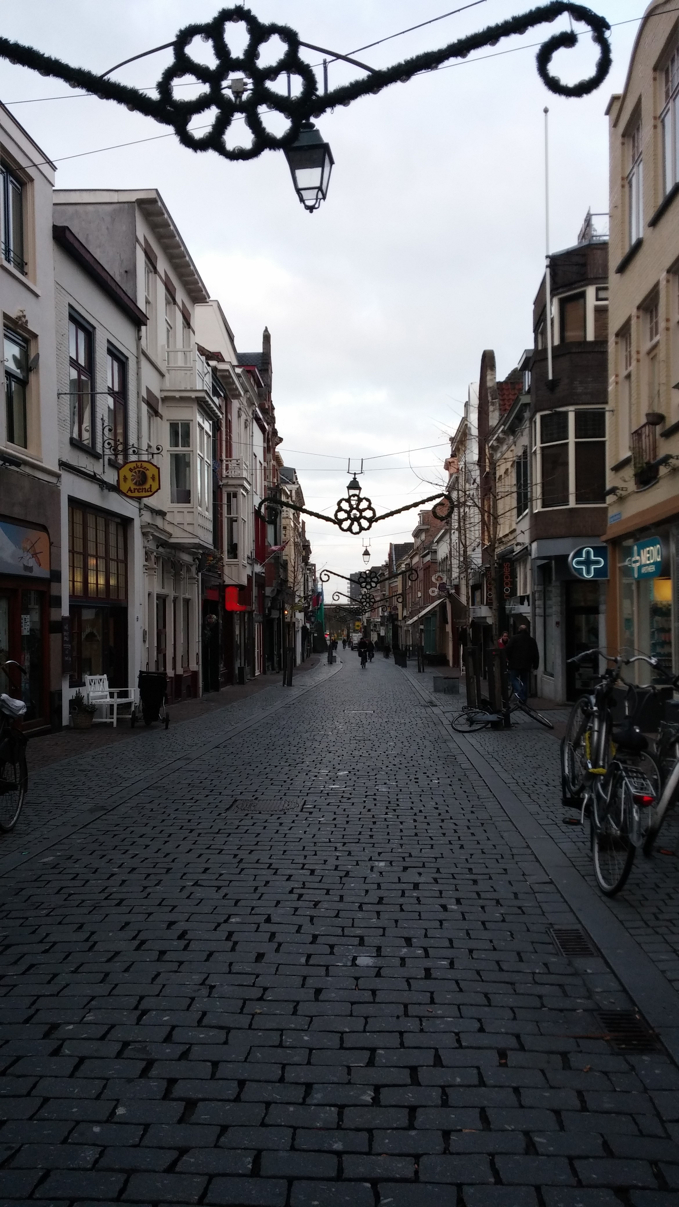 All of the streets in Nijmegen are bricks or cobblestones