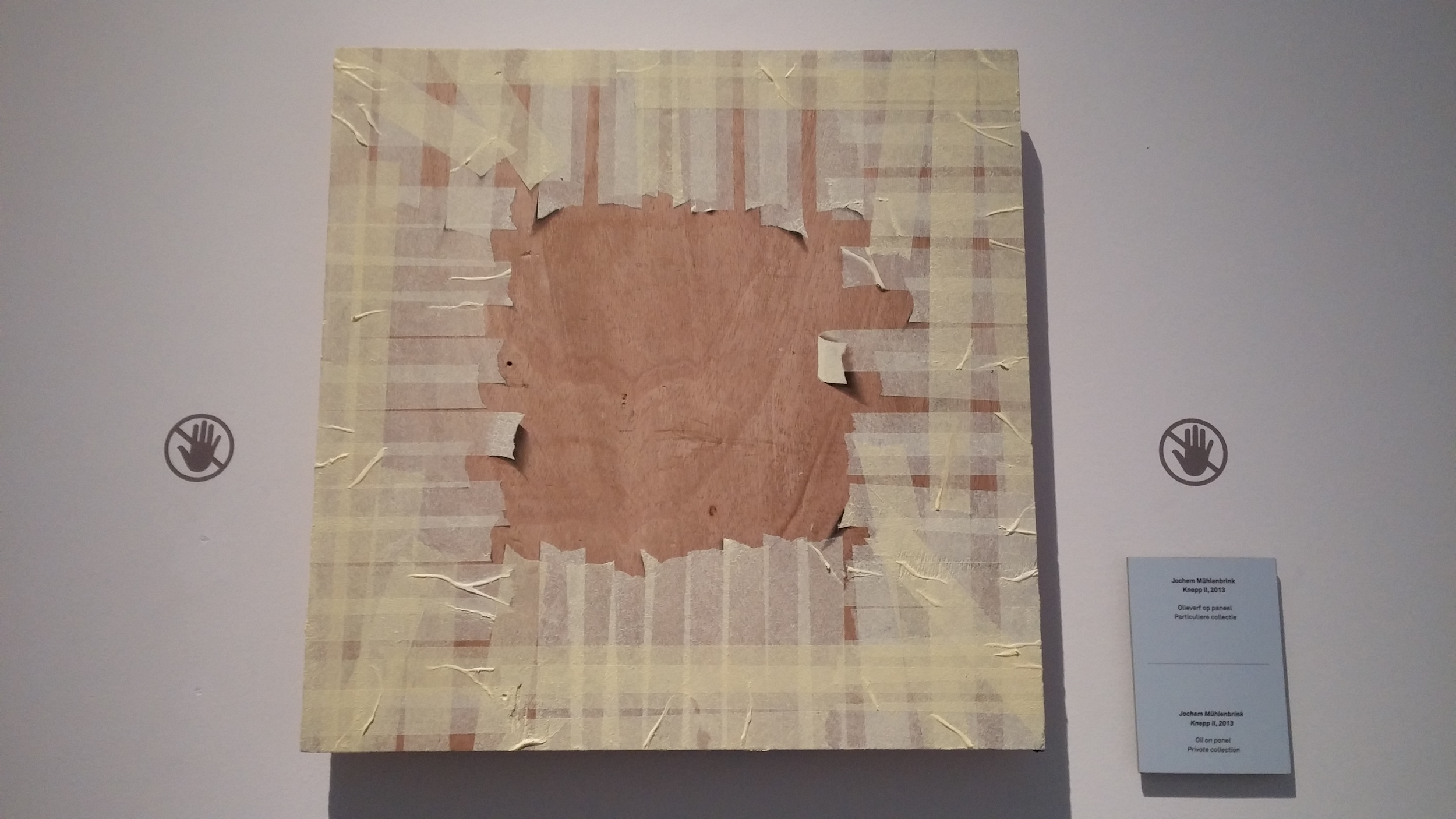 Oil on wood panel. No tape.