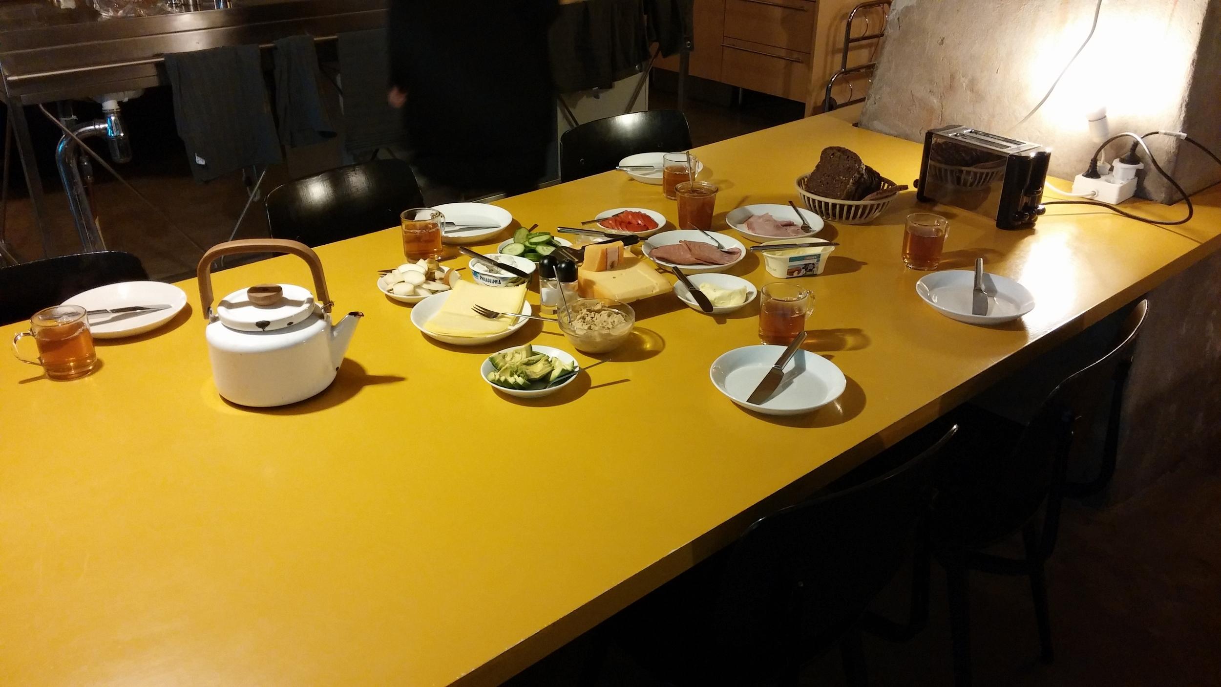 Traditional Dutch lunch