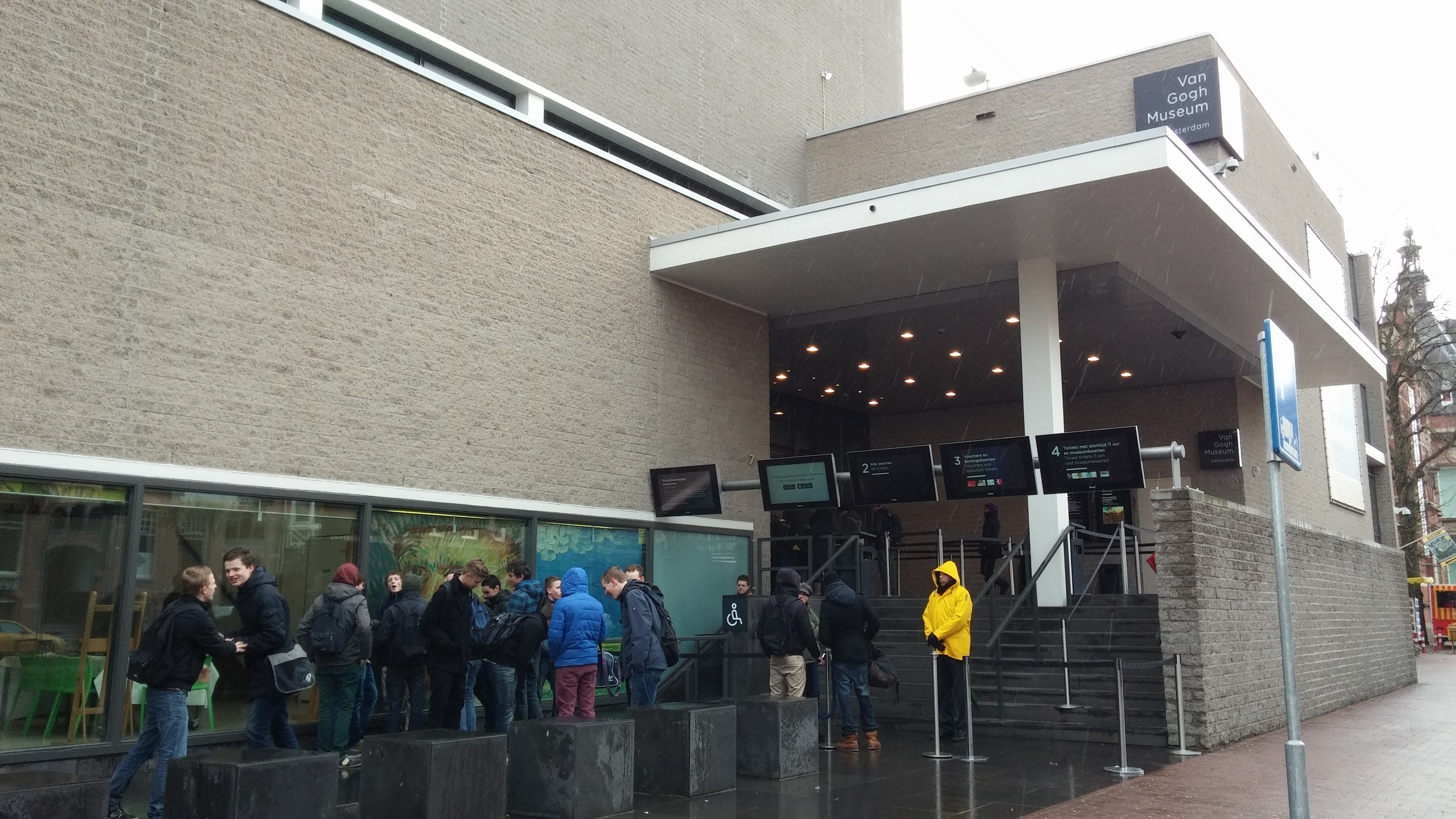 The Van Gogh Museum in the rain. I wasn't allowed to take pictures inside this museum or the Anne Frank House.