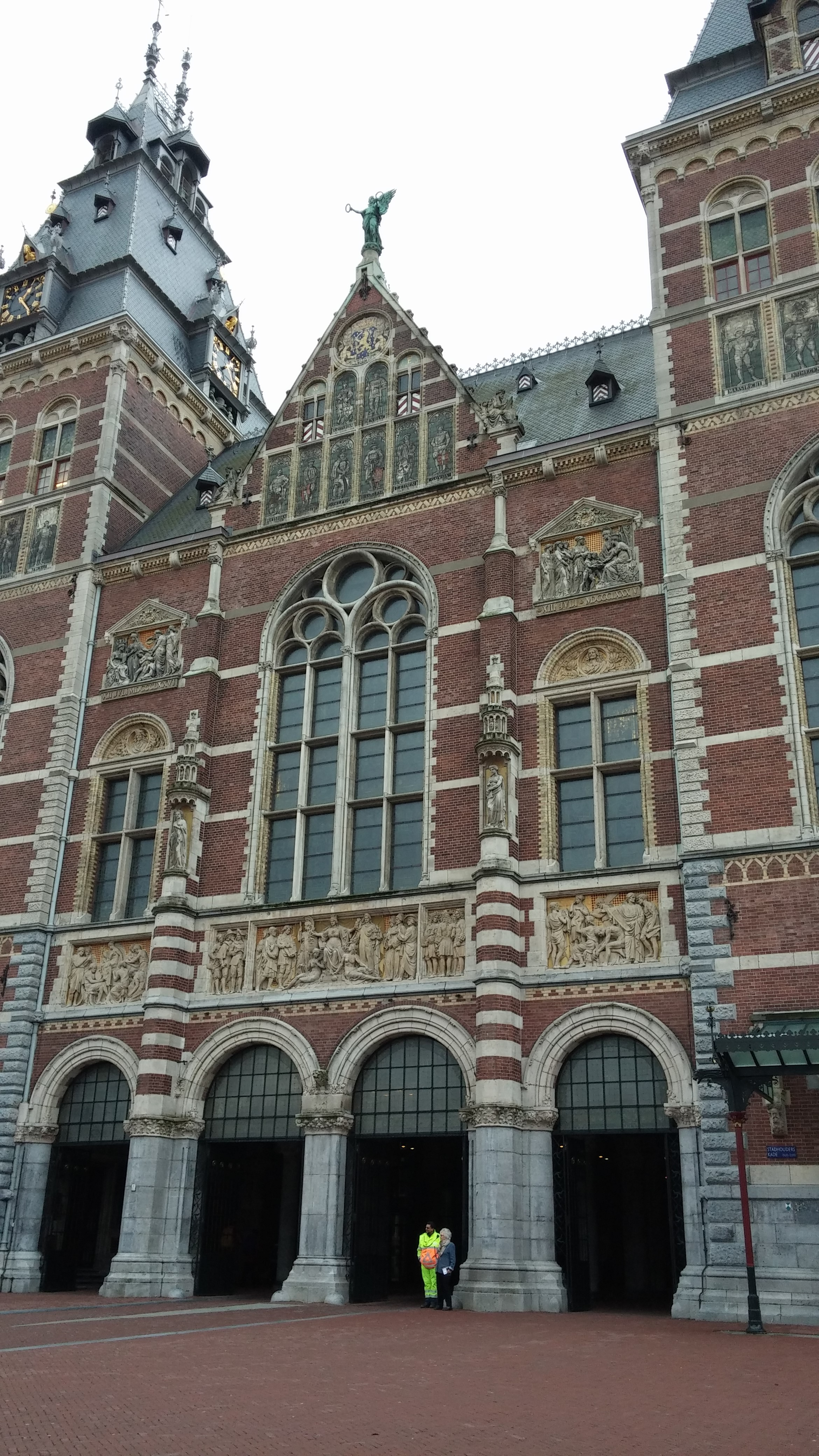 The outside of the Rijks Museum