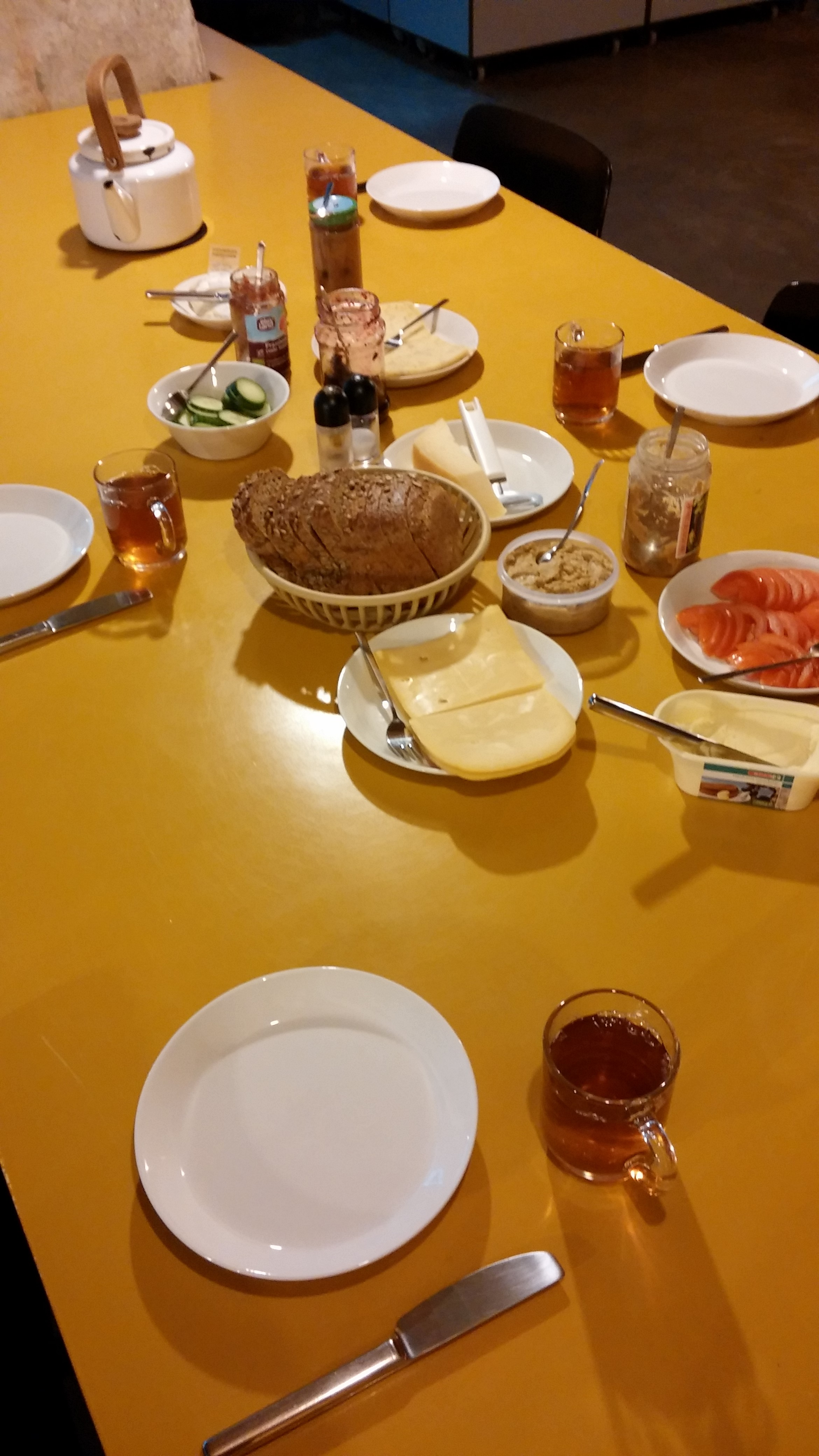 Four kinds of cheese for lunch