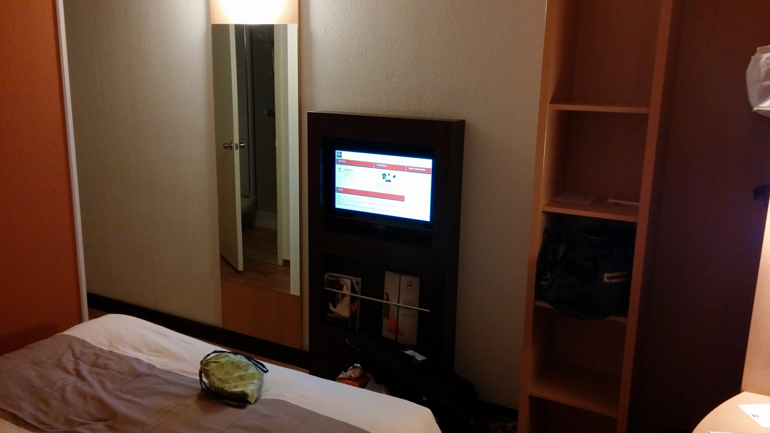 My super nice room at the hotel in Amsterdam
