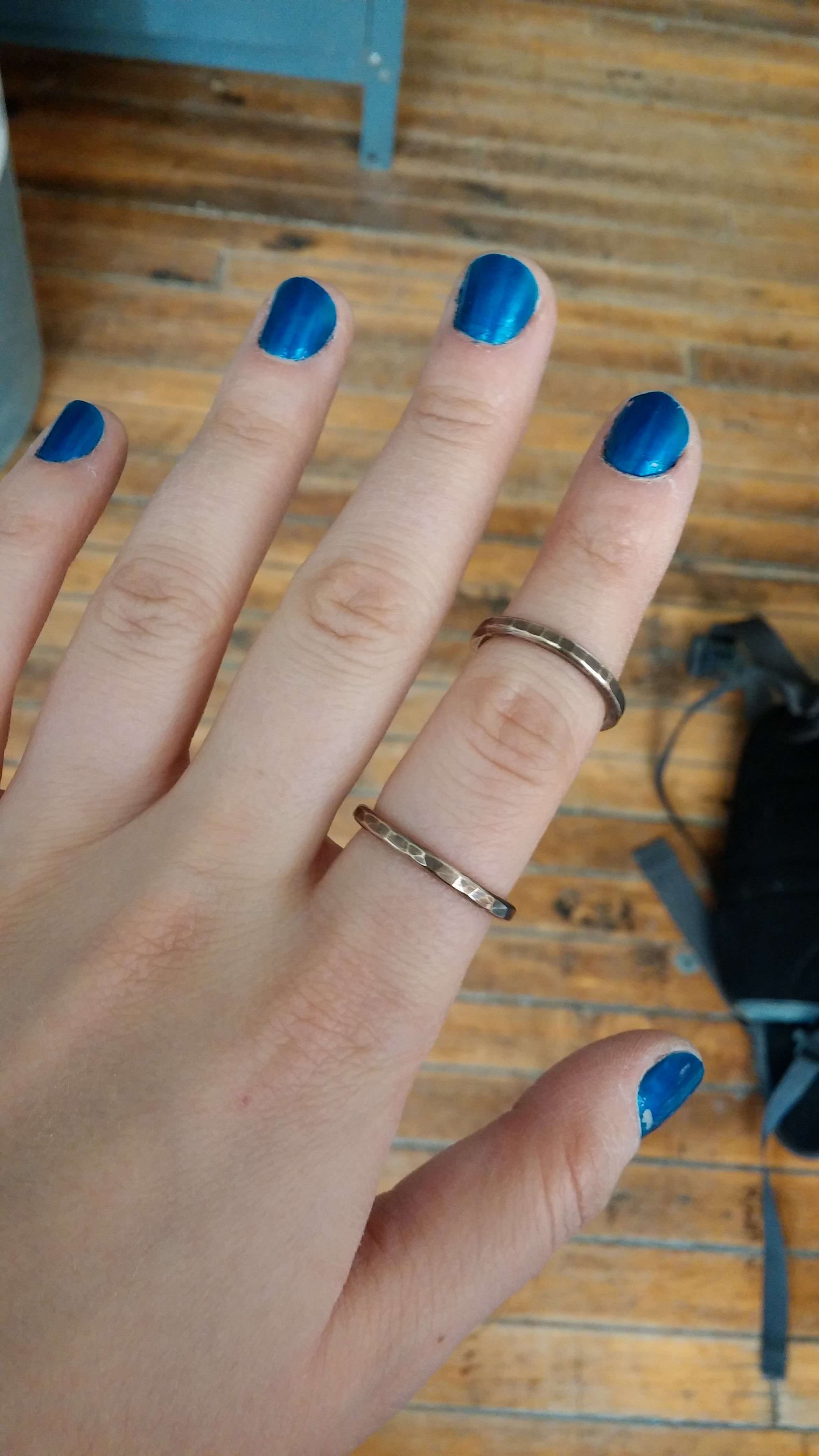 Finished two custom ring orders