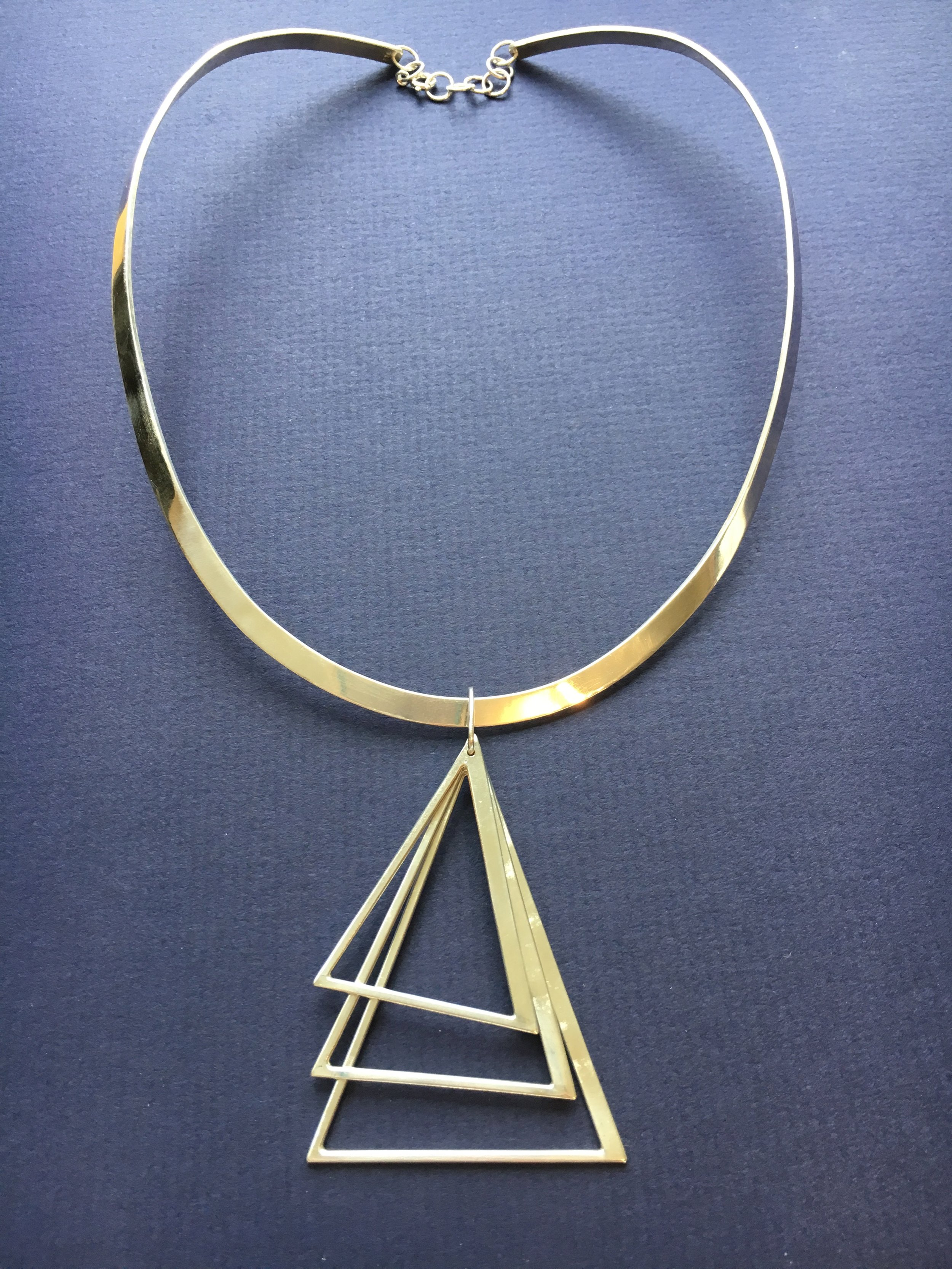 Fabricated Custom Tri-Delta Necklace in Sterling Silver