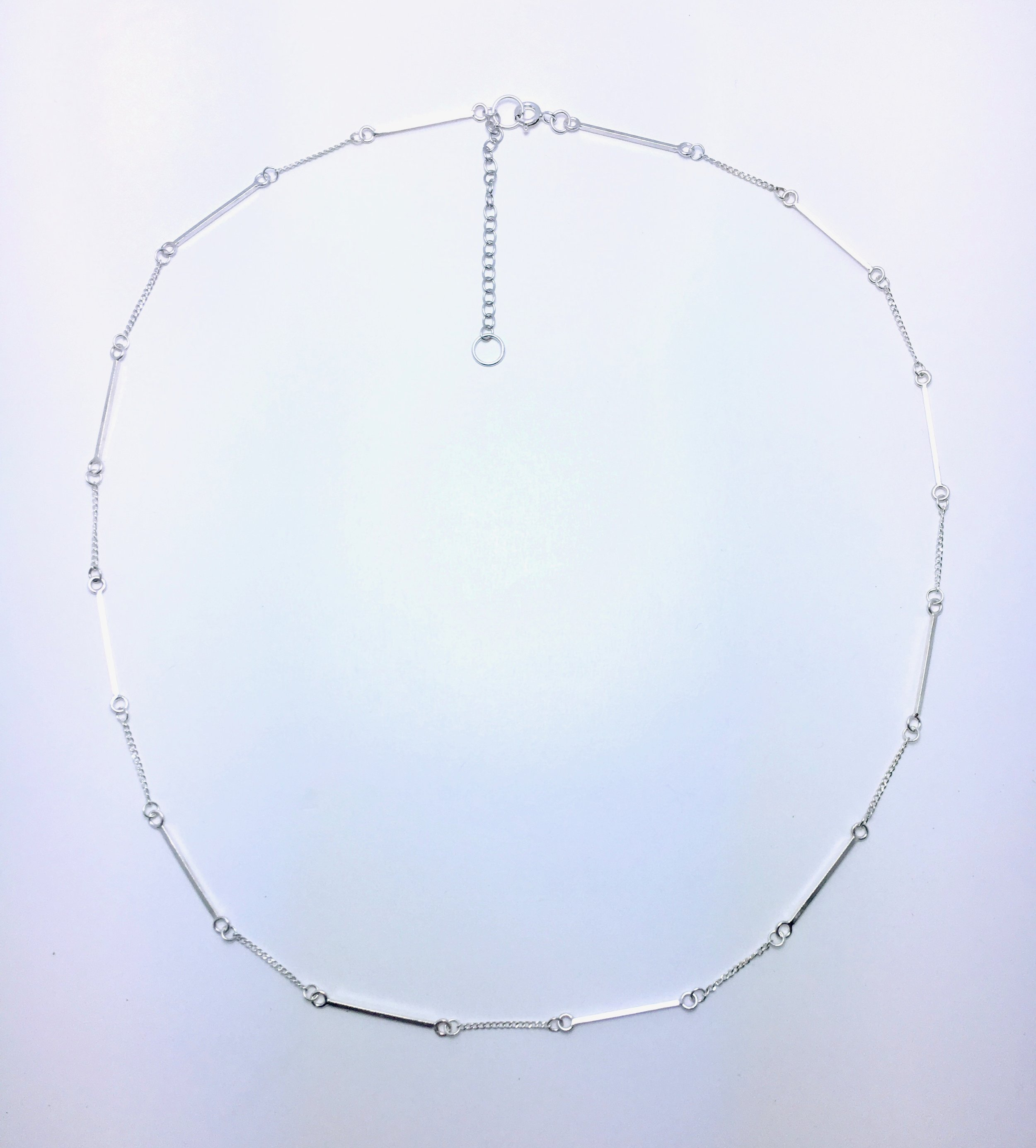 Sterling silver chain with square wire elements