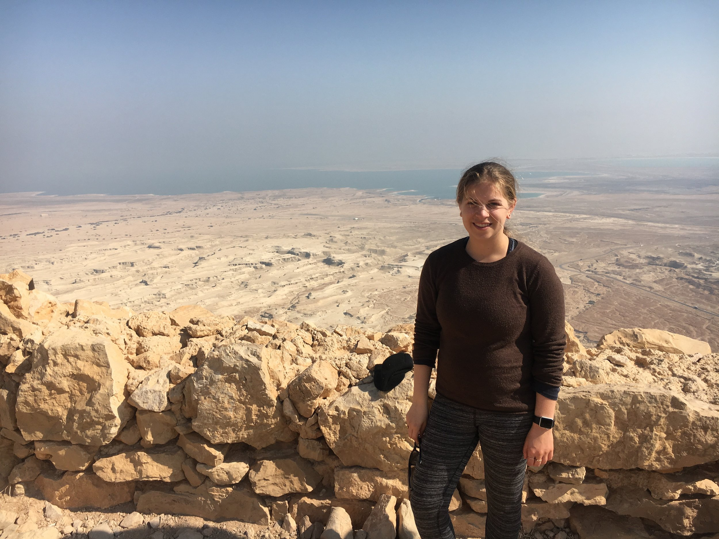 Me on top of Masada in Israel