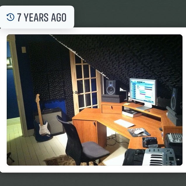 Humble home studio beginnings. Some of you remember working here with me. I'm so grateful for all the talented artists who have trusted me with their music.