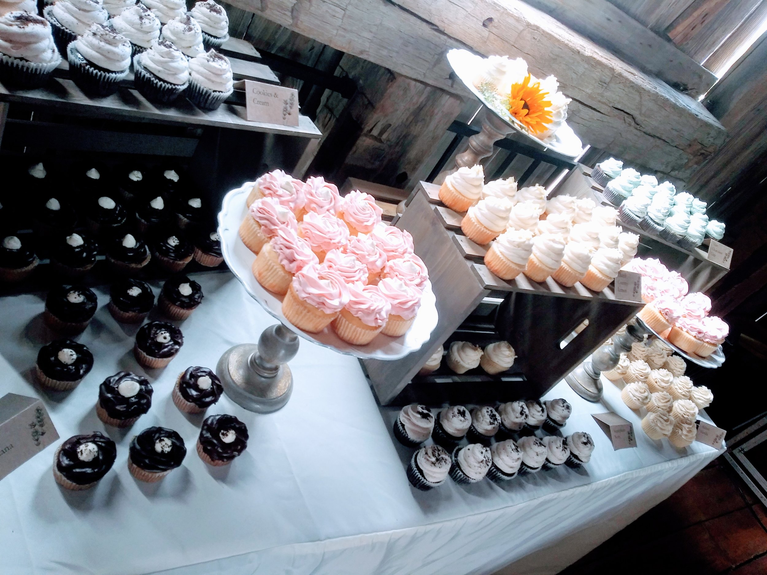 We offer free delivery and set up to any of our preferred reception vendors. - Please call us to inquire about your venue.