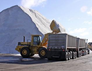 Loading salt in Sault Ste. Marie, MI