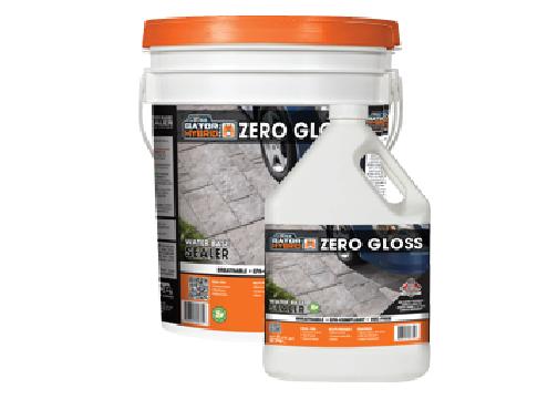Zero gloss water-based sealer