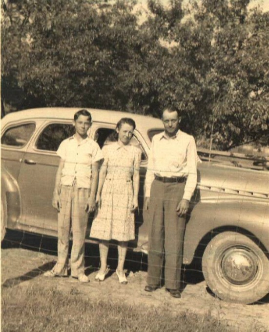 Herman, Delilah and Oliver Stepp Taken just before they left Tennessee