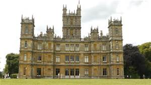Highclere Castle in Hampshire, England. It is the set for ITV's Downton Abbey