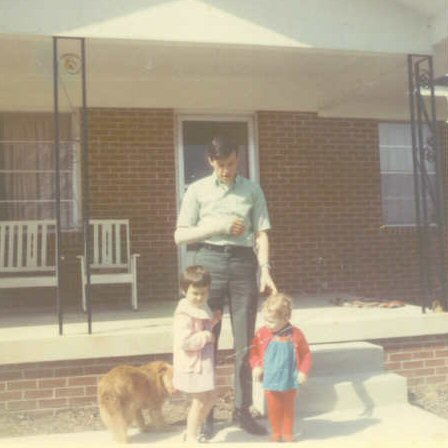 It seems we have a picture of every member of the family standing on the front porch of my grandparents' house.