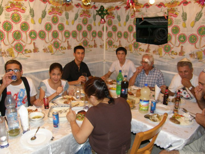 Family feasting in the Sukkot