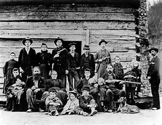 This public domain image is supposed to be affiliated with the famous Hatfields and McCoys feud. I don't know any of the people so I couldn't say either way.