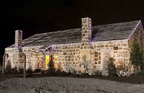 World's lagest Gingerbread House in Bryan, TX