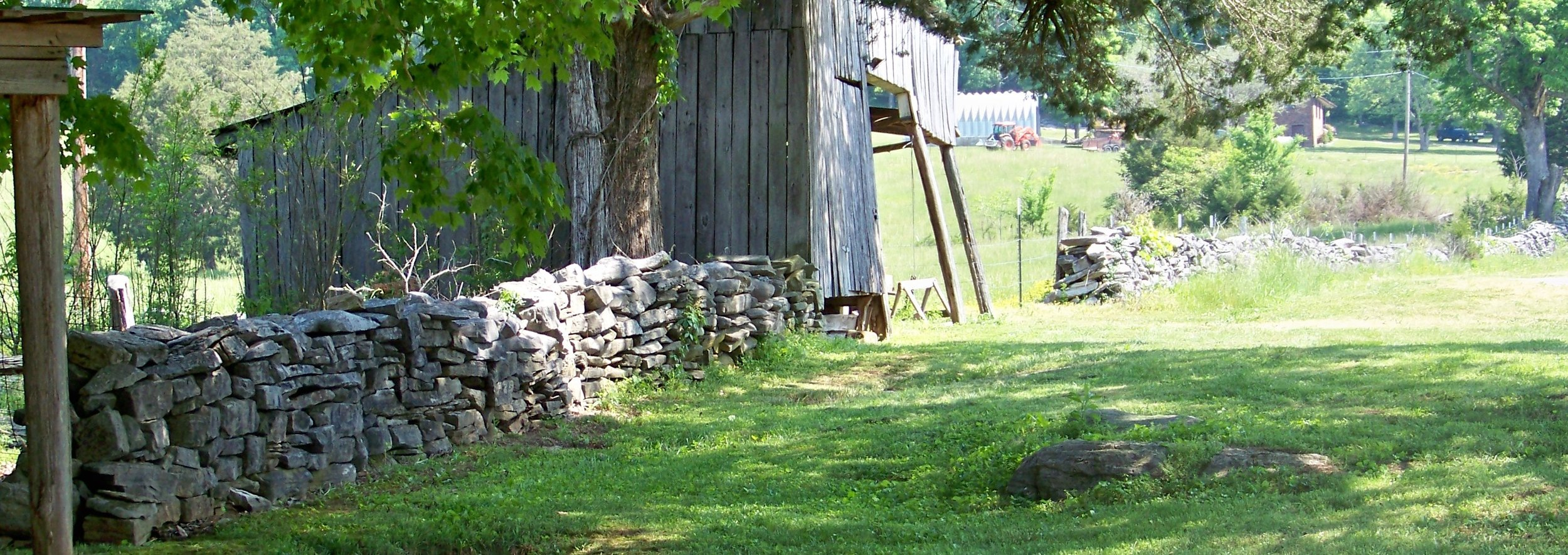 Rock Wall at The Henry Home in Sequatchie Valley
