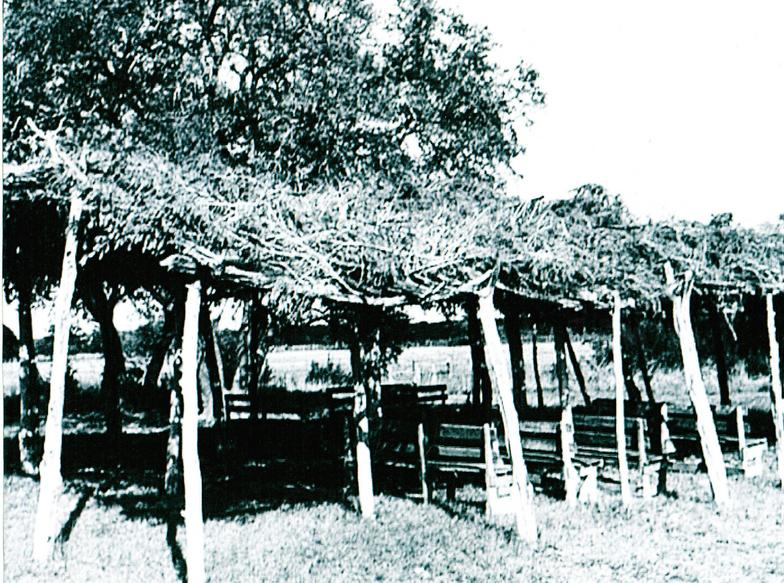 Brush Arbor that Concord Baptist Church in Chase City, VA started out with.  http://www.concordbaptistchurchcc.org/Our-History.html