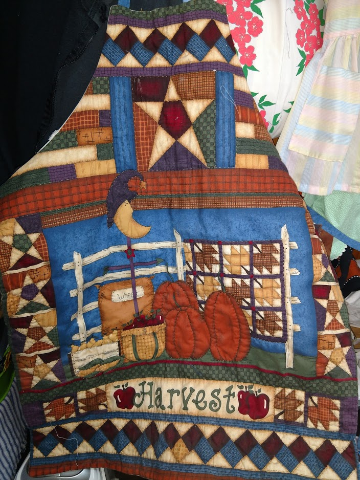 A Modern Apron Creation - quilted patchwork