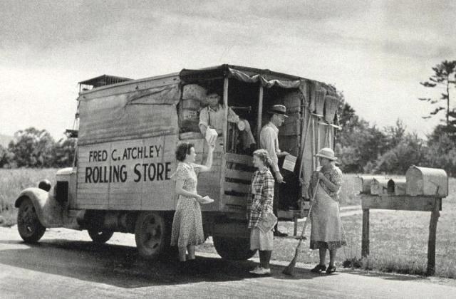 A Public Domain image of a Rolling Store.