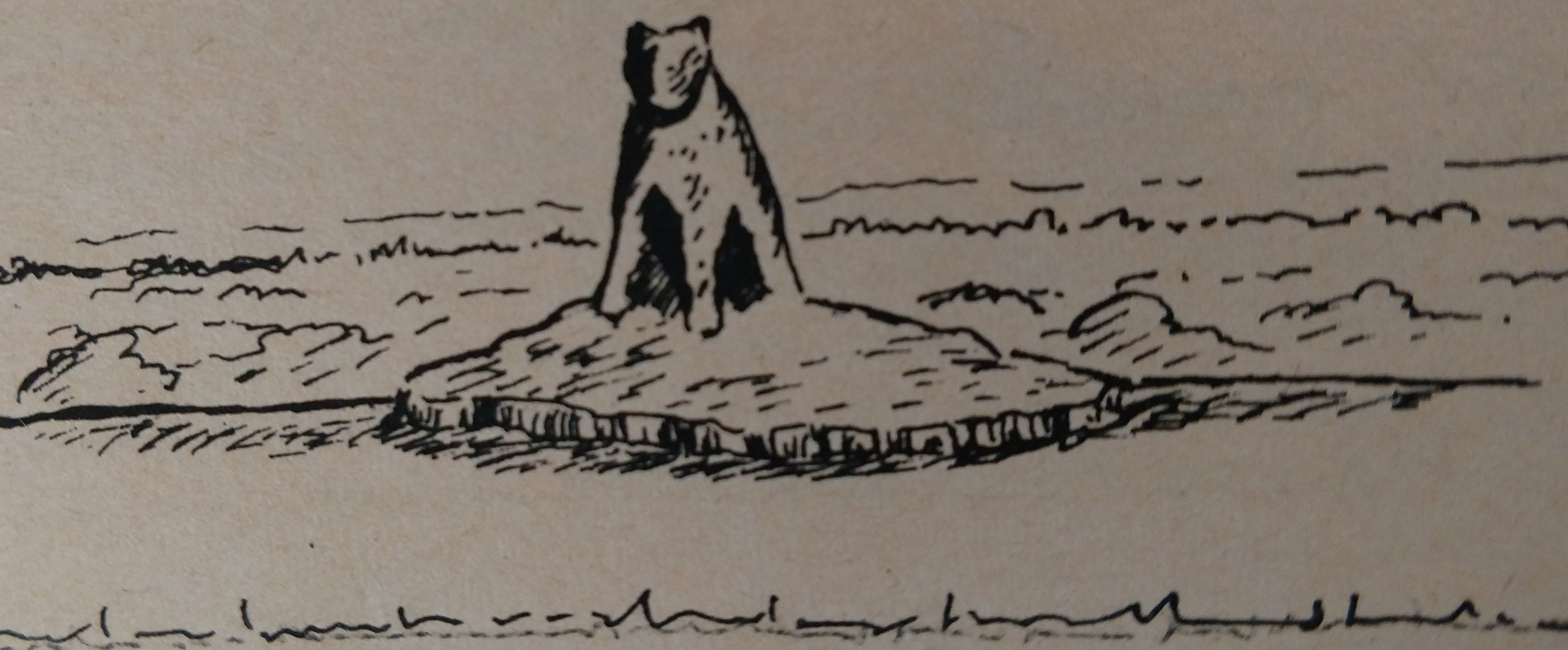 Mr. Lane's artsitic rendering of the original Standing Stone