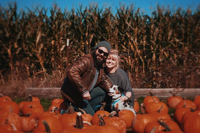 Best. Day. Of. My. Life.  Started as an adventure to rescue the ugliest pumpkins in the patch on Sauvie Island... Followed by complications of a family self-timer photo session to what led to the complete and utter confusion and shock on my face. Our photo may not be perfect, nor our furry teenage pig dog, but it was the perfect moment and you're perfect for me. Love you @okconman ❤️ . . . . #fiance #proposal #ring #marriage #love #pnw #oregon #fall #wedding #engaged #justengaged #bestfriends #soulmate #perfect #photo #portland #dailyhiveportland #sauvieisland #engagementring #engagement #engagementphotos #bellaorganicfarm