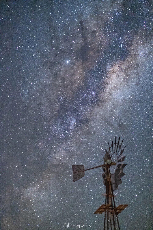 A windmill on a windless night