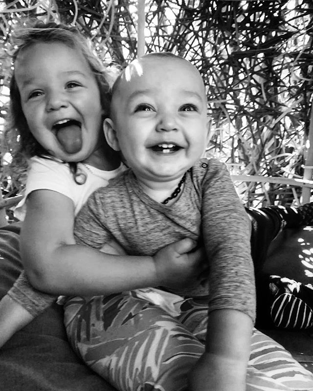 Monkeys 💕🐒🐒💙 #lellarose2years #finlaycharles11months