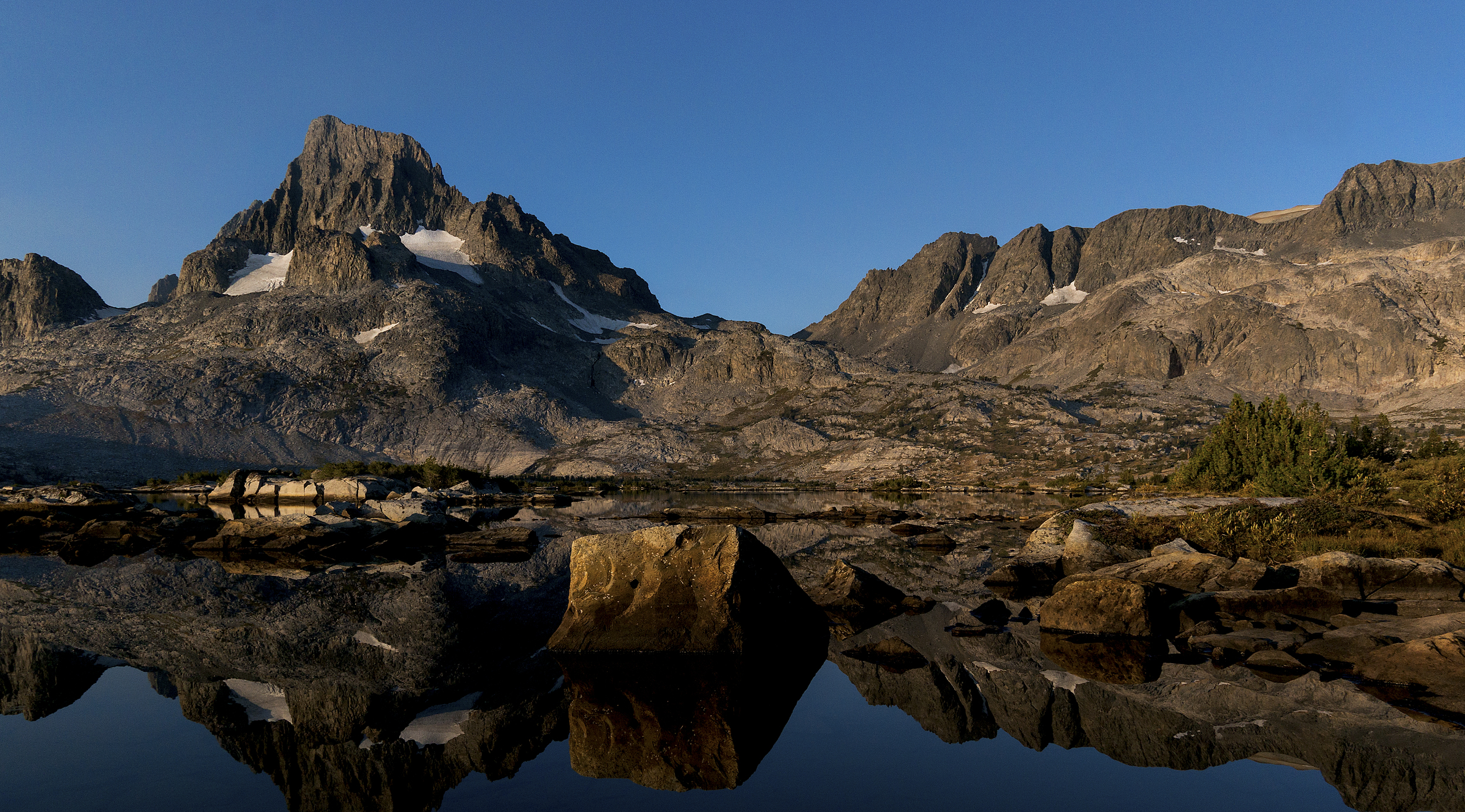 Banner Morning- Mt. Banner reflected in Thousand Island Lake