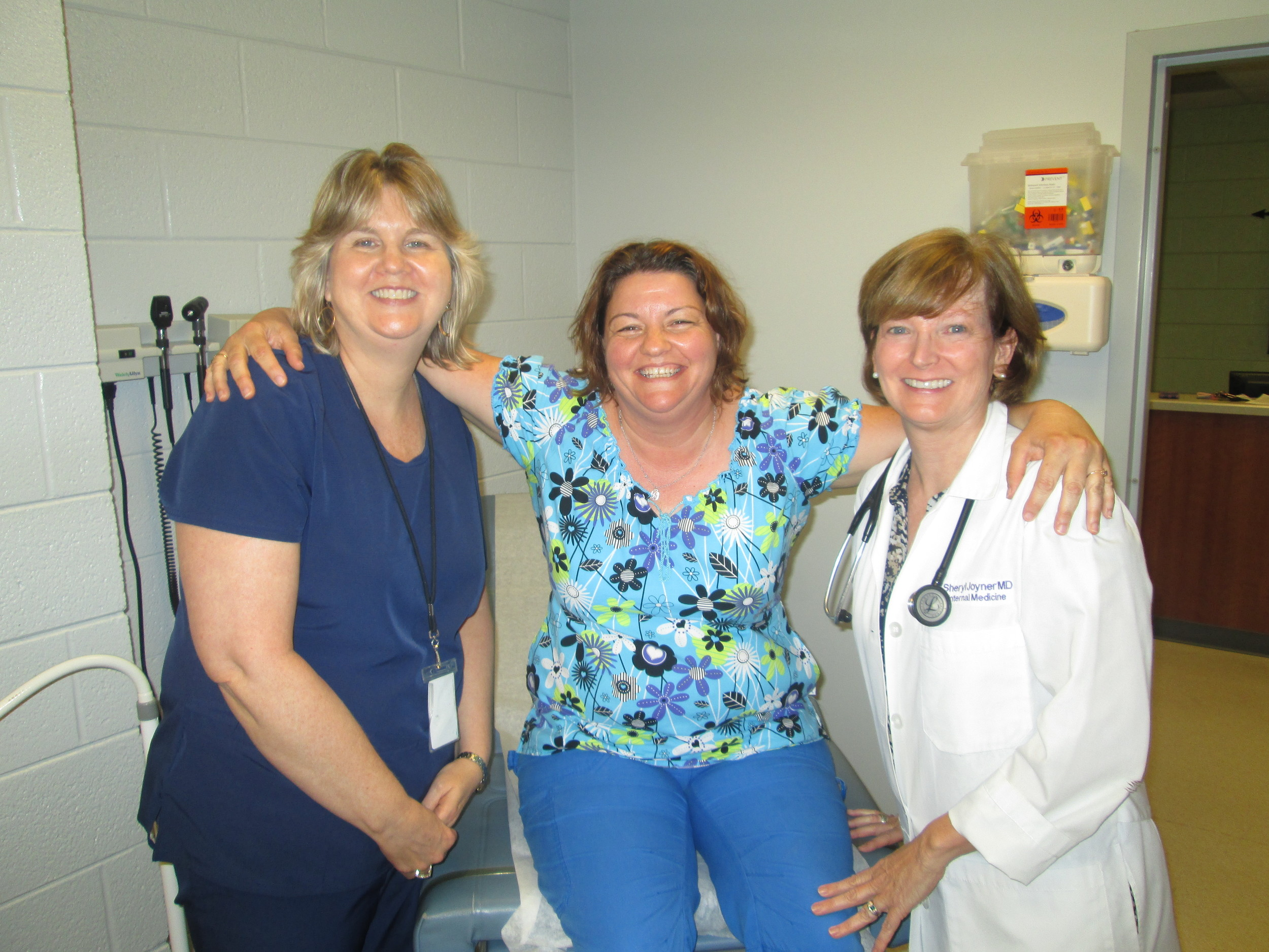 Patient Michelle Turner (middle) with Alliance's Leanne Ritter, MA and Dr. Sheryl Joyner.