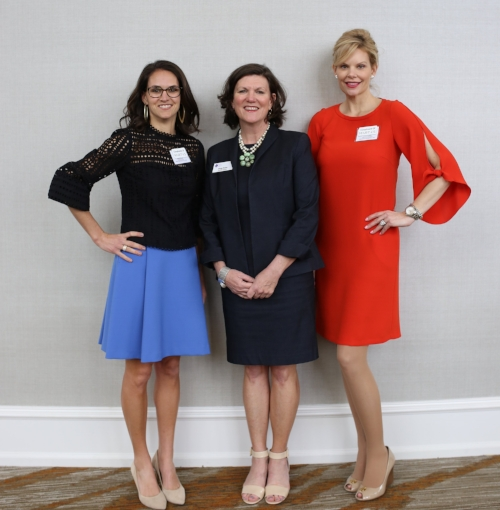 L to R:  Becca Edwards, Co-Chair; Megg Rader, Executive Director; Kirsten Riggs, Co-Chair