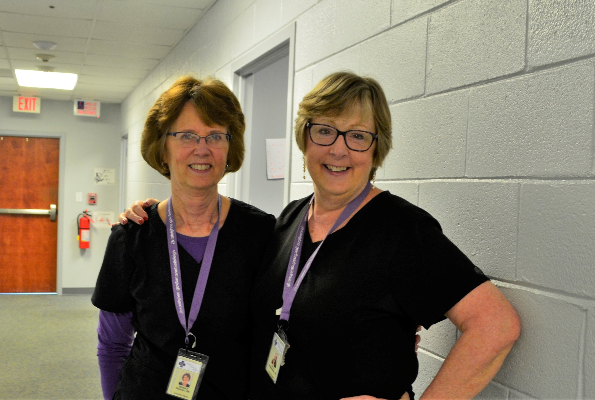 Beverly (L) and Kim Stephenson (R), Director of Nursing