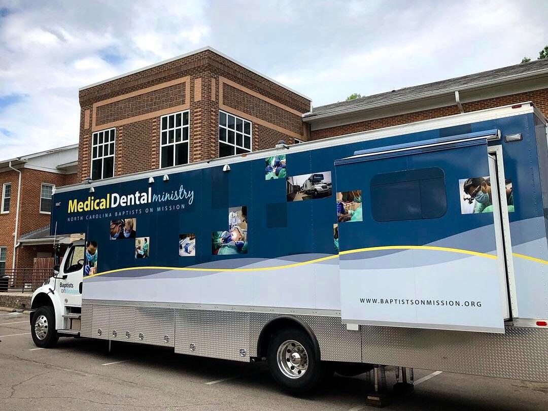 Alliance is thankful that Trinity Baptist Church sends N.C. Baptist Men's Dental Bus annually.