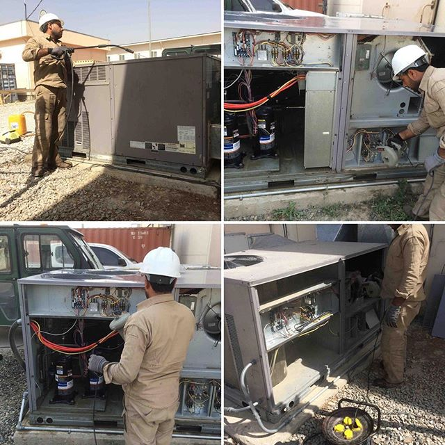Our team provided Task Order support for an undisclosed client for the US Air Force Counter Narcotics & Global Threats Program. For two years we provided 24 hour HVAC maintenance with a four hour emergency 🚨 response time. This work was all performed in a secure area with cleared local nationals trained to service Carrier 8 to 15 ton HVAC units. Very proud of the work the team performed and were ready to provide your company the same level of support. #hvac #hvacmaintenance #afghanistan #governmentcontracting #governmentcontracts #cntpo #cn&gt #smallbusiness #overseascontractor #reliability #hvactechnician #hvacrepair #airfilters