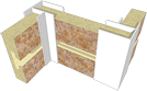 "PVC INSIDE & OUTSIDE CORNER - P760 - 1-3/8"" X 1-3/8"" X 8'"