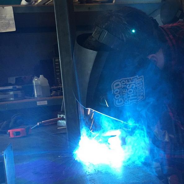 Joe getting the fabrication done.