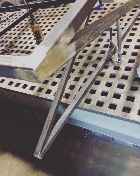 Finished w/ fabrication ready to head to the powder coater.