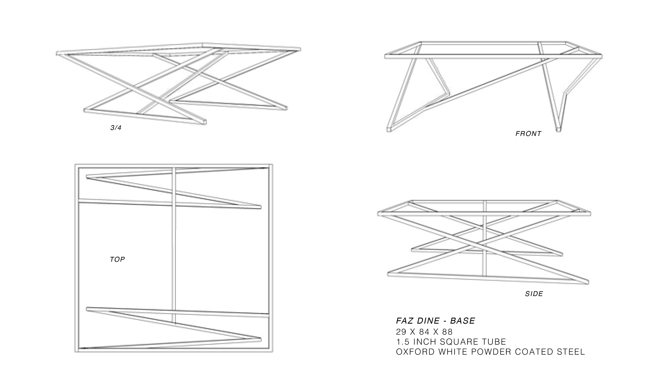 Table Base - Proposed Design by Constructed Matter, Inc.