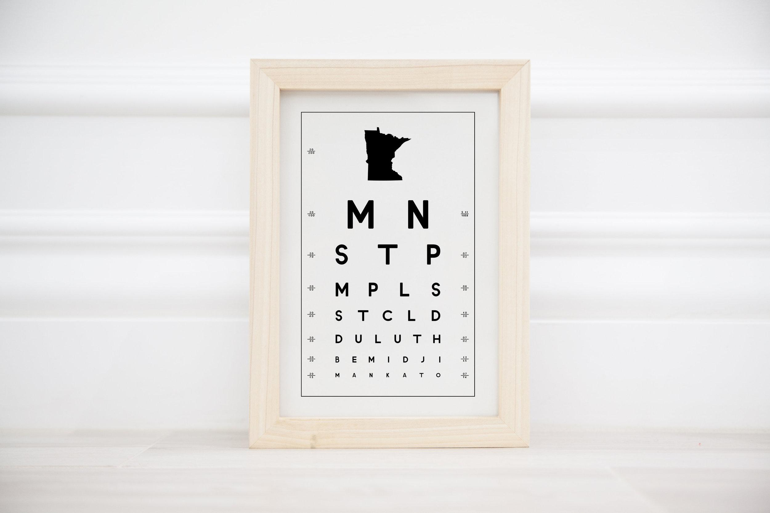 MN eye chart