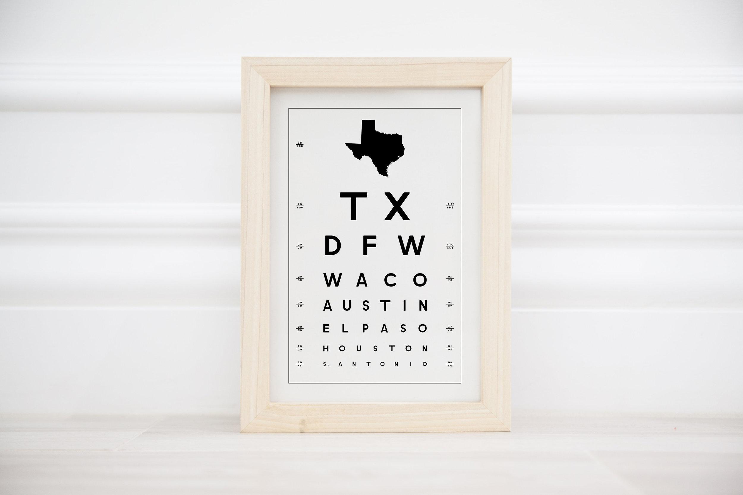 TX eye chart
