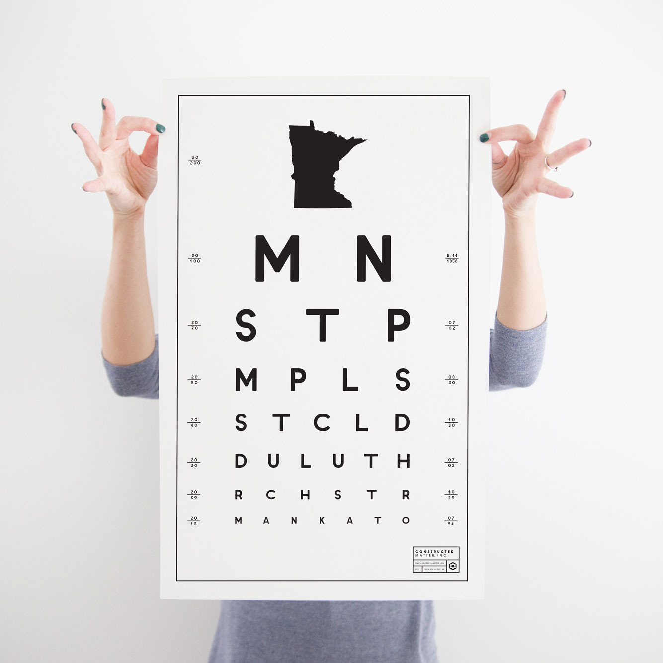 "MN Eye Chart 15"" x 24"" - $20.95 Wholesale / $48.95 MSRP"