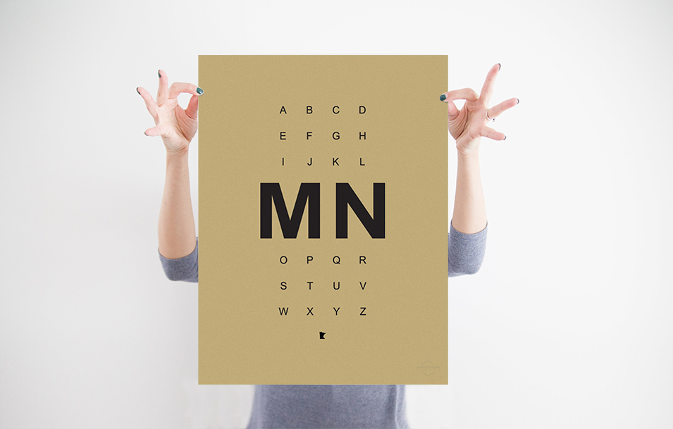 "MN Alphabet Print 15"" x 24"" - $20.95 Wholesale / $48.95 MSRP"