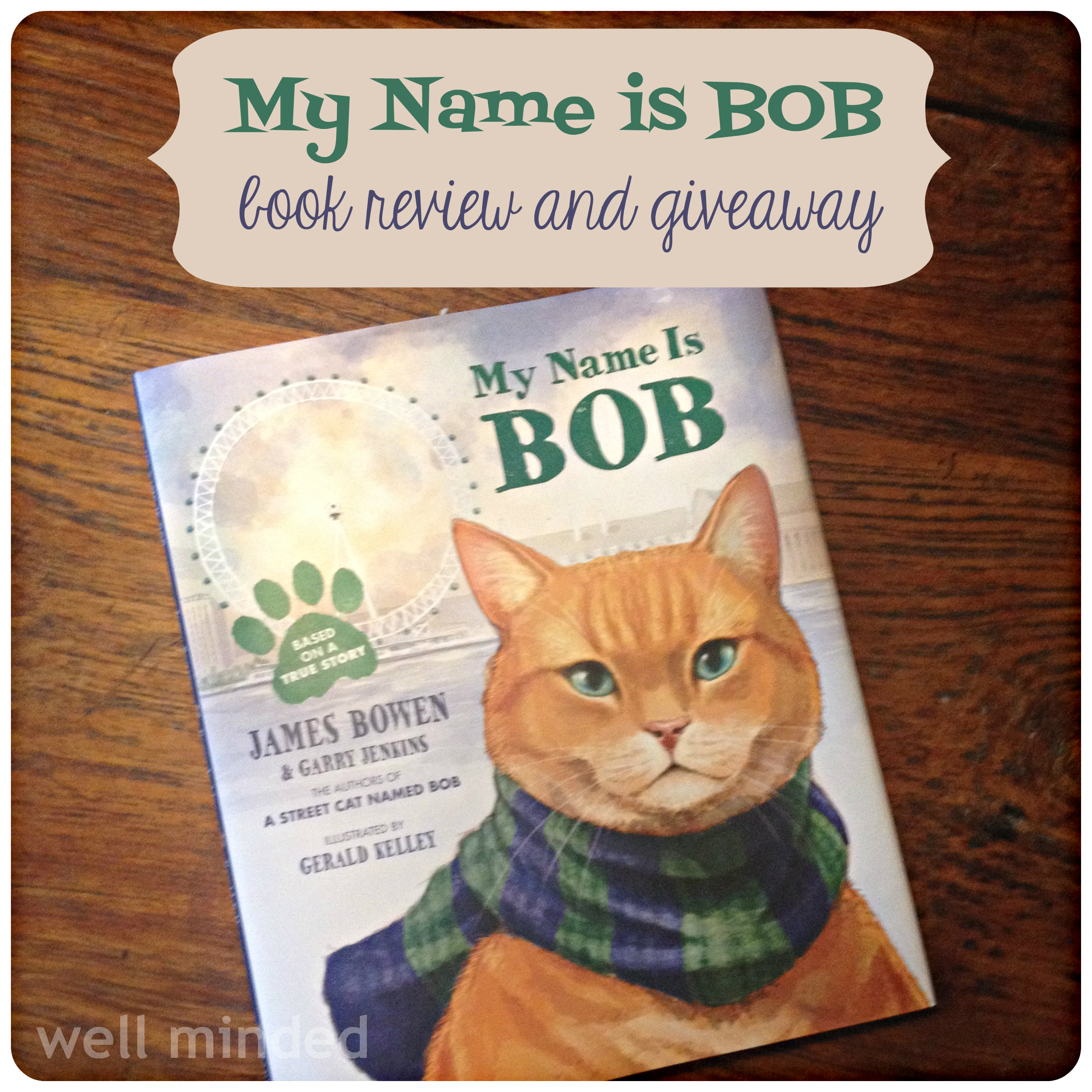 My Name is Bob  book review and #giveaway