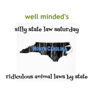 silly state law saturday: north carolina. state image source: zazzle.com