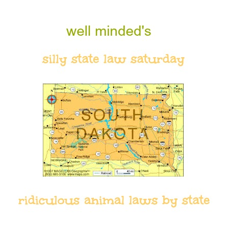 well minded's silly state law saturday: south dakota. State image source: infoplease.com