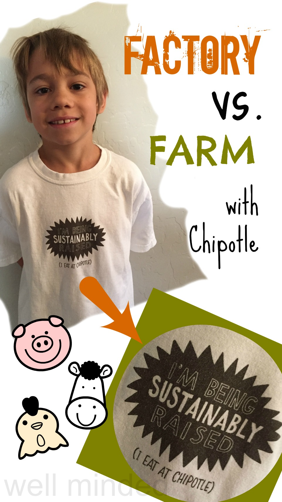 Factory vs. Farm with Chipotle. We believe in being sustainably raised!
