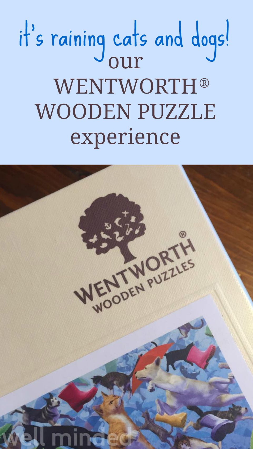 It's raining cats and dogs! Our Wentworth® Wooden Puzzle experience.