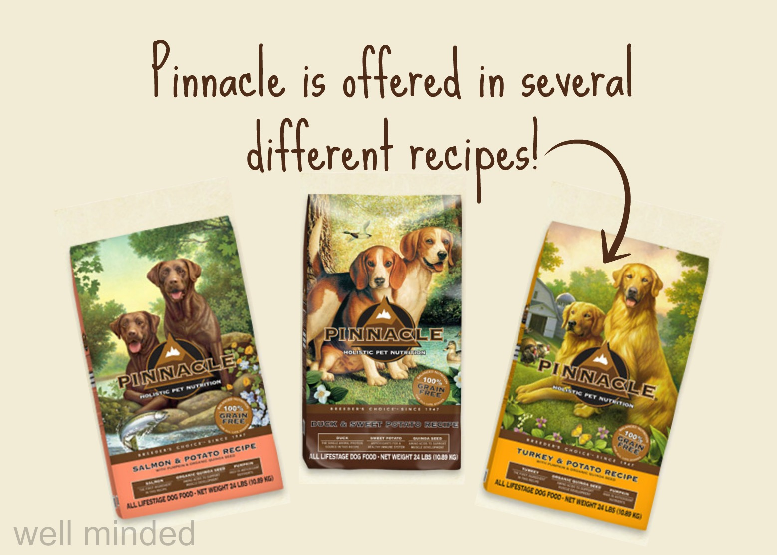 Pinnacle is offered in several different recipes.